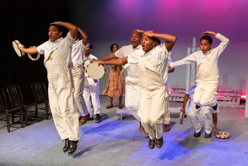 The cast of Vintage Theatre's 'The Scottsboro Boys.' RDG Photography.