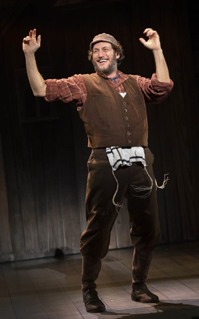Yehezkel Lazarov as Tevye in the 2018_19 Broadway touring production of Fiddler on the Roof. Photo by Joan Marcus.