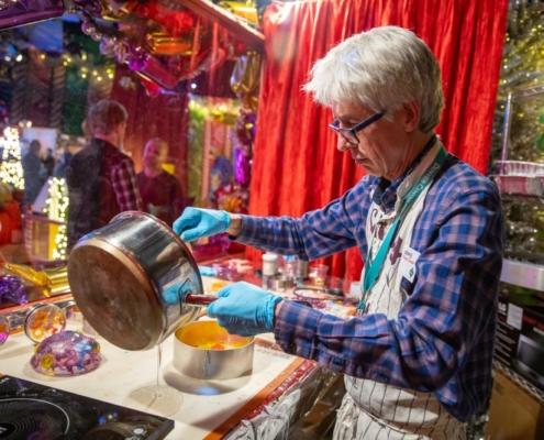 Creator Lonnie Hanzon at Camp Christmas 2019. Photo by Adams VisCom.