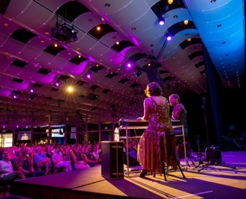 Neyla Pekarek and Brian Cronan perform at Mixed Taste. Photo by Adams VisCom.