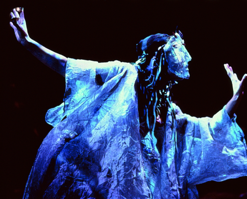 Alyssa Bresnahan as Thetis in the 2000 Denver Center Theatre Company production of Tantalus. Photo by p. switzer