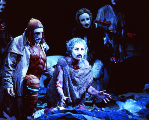 Ann Mitchell as Hecuba in the 2000 Denver Center Theatre Company production of Tantalus2. Photo by p. switzer