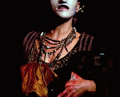 Annalee Jefferies as Clytemnestra in the 2000 Denver Center Theatre Company production of Tantalus. Photo by p. switzer