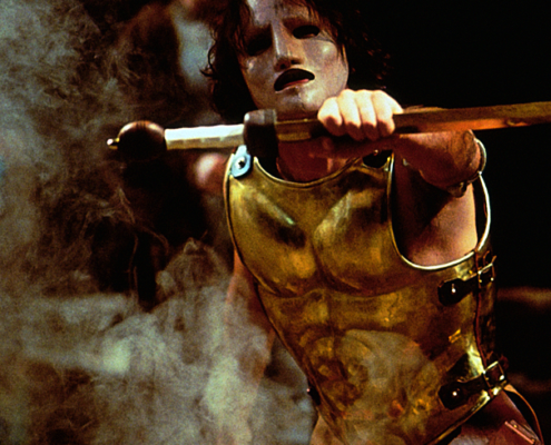 Robert Petkoff as Achilles in the 2000 Denver Center Theatre Company production of Tantalus. Photo by p. switzer
