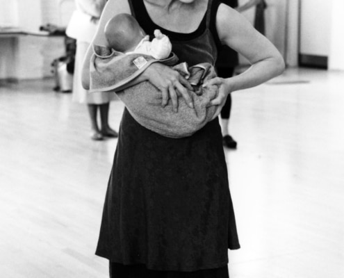 Annalee Jefferies during rehearsals of TANTALUS. Photo by p. switzer.
