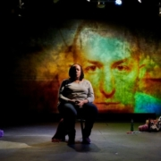 Dael Orlandersmith in the Rattlestick Playwrights Theater production of Until the Flood. Photo by Robert Altman.