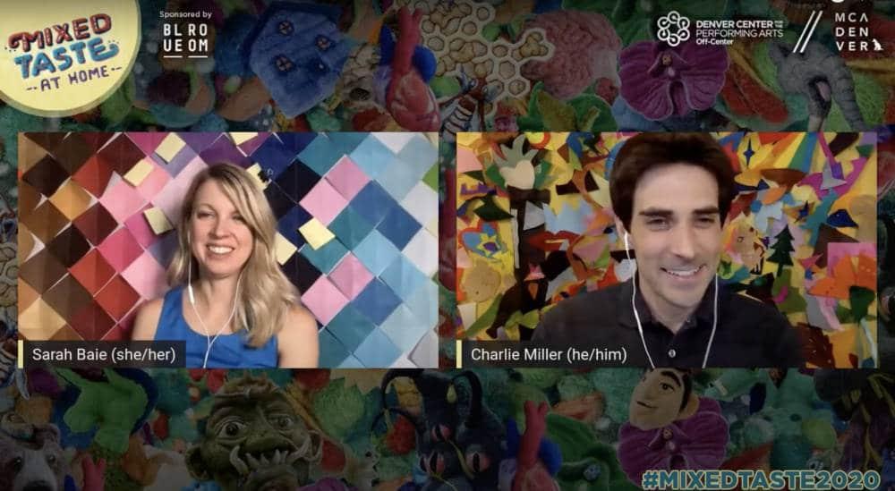 Sarah Baie and Charlie Miller hosting Mixed Taste 2020