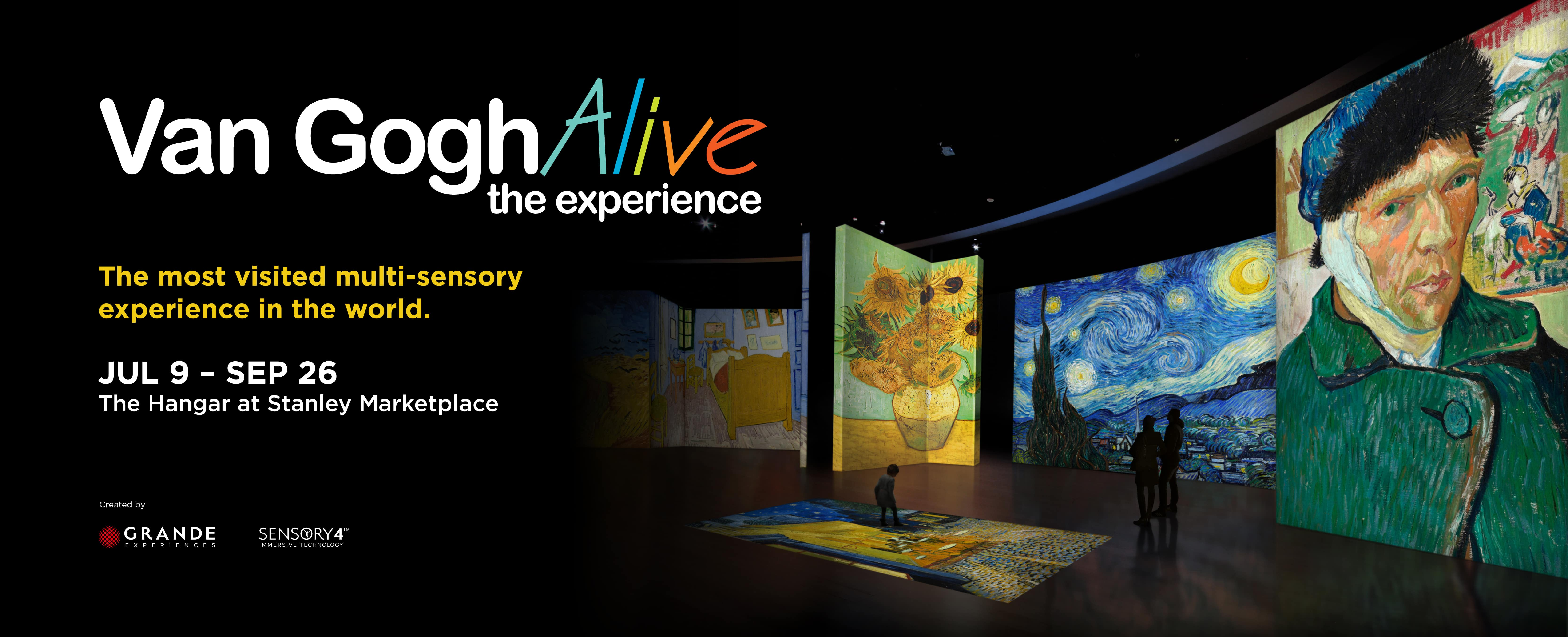 Van Gogh Alive runs July 9 to September 26 at the Stanley Marketplace