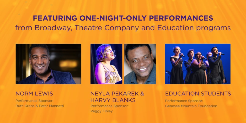 Norm Lewis, Neyla Pakarek, Harvy Blanks and Education Students will provide entertainment for SNA 2021